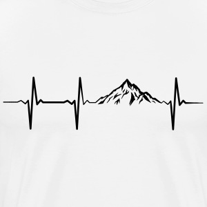 Heartbeat Mountains T-skjorter - Premium T-skjorte for menn