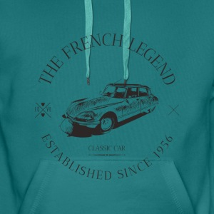 CITROEN DS FRENCH CAR Sweat-shirts - Sweat-shirt à capuche Premium pour hommes