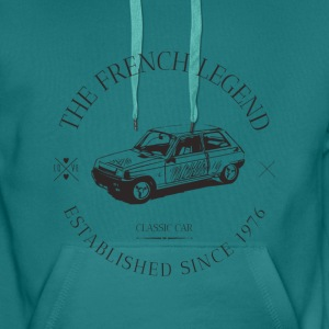 RENAULT R5 FRENCH CAR Sweat-shirts - Sweat-shirt à capuche Premium pour hommes