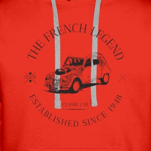 CITROEN 2CV FRENCH CAR Sweat-shirts - Sweat-shirt à capuche Premium pour hommes