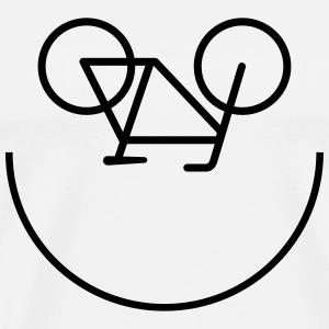 Bicycle Smiley T-Shirts - Men's Premium T-Shirt