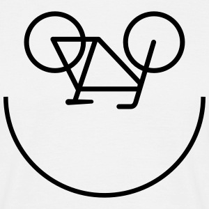 Bicycle Smiley Camisetas - Camiseta hombre