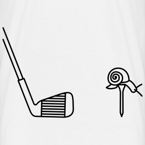 tee shirt blanc golf escargot - T-shirt Homme