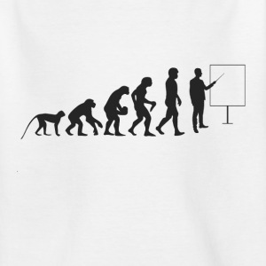 Lærer evolution T-shirts - Teenager-T-shirt