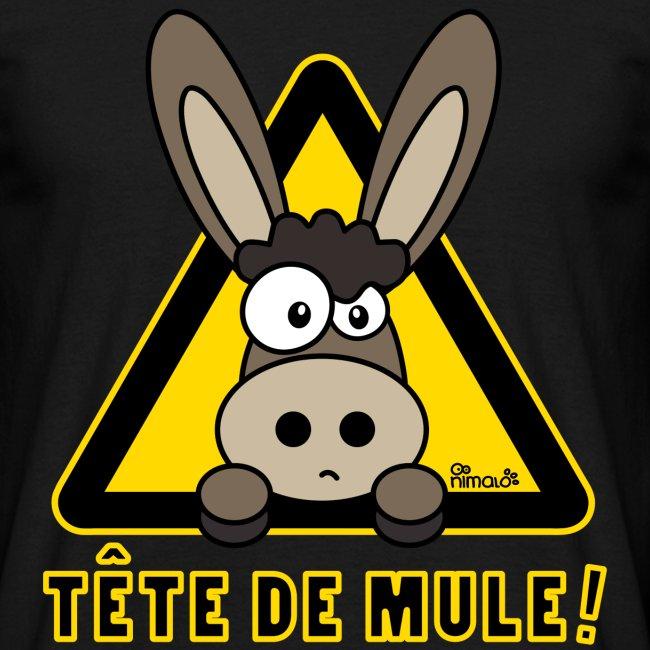 T-shirt Homme Âne, Tête de Mule