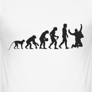 Happy Evolution T-Shirts - Männer Slim Fit T-Shirt