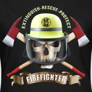 firefighter_skull_092016_c T-Shirts - Frauen T-Shirt