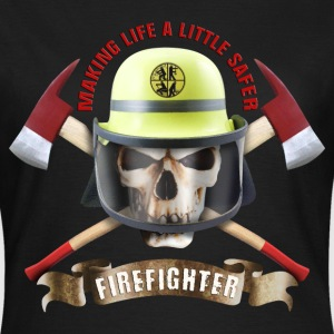 firefighter_skull_092016_a T-Shirts - Frauen T-Shirt