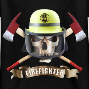 firefighter_skull_092016_b T-Shirts - Kinder T-Shirt