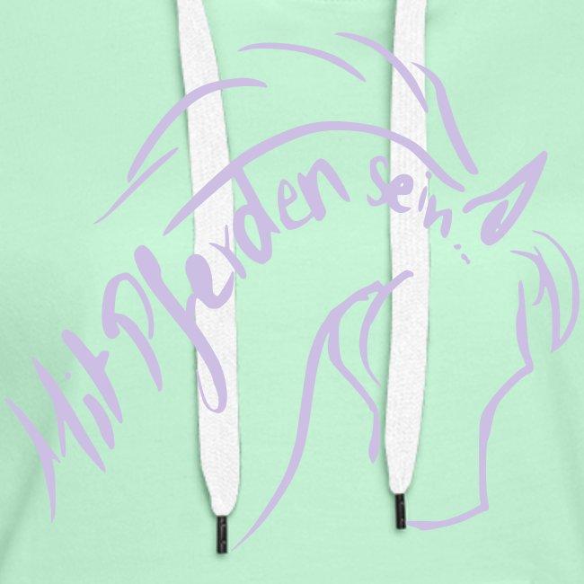 Proud Horse,  Women Hoody ( Print: Lavendel)