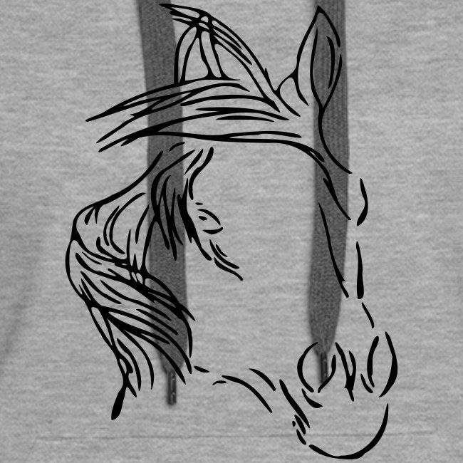 Dreamhorse,  Women Hoody ( Print:Black)