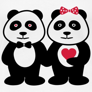 Couples Panda Partnerlook - Women's Premium T-Shirt