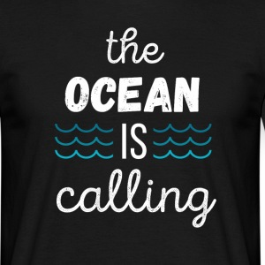 The Ocean is calling Surf T-shirt T-Shirts - Men's T-Shirt