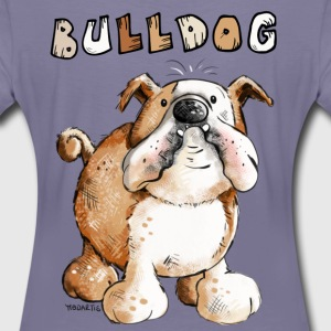 Sweet English Bulldog Cartoon T-Shirts - Women's Premium T-Shirt