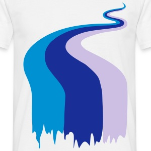 river, stream, colors T-shirts - T-shirt herr