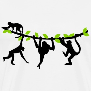 climbing monkeys - monkey T-Shirts - Men's Premium T-Shirt