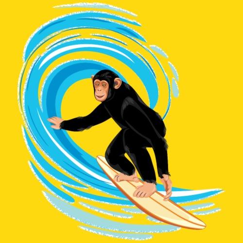 Affe beim Surfen