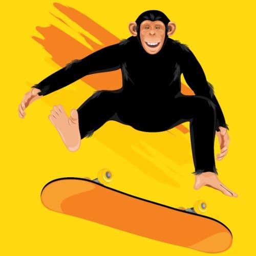 Affe mit Skateboard