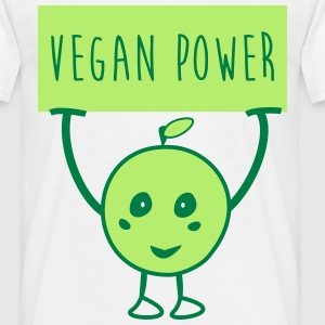 Vegan Power veggie  - T-shirt herr