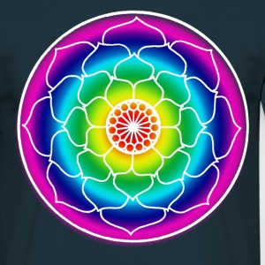 Rainbow Lotus Mandala - Men's T-Shirt