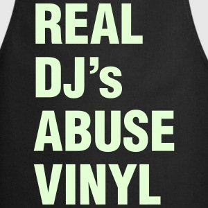 REAL DJ's ABUSE VINYL  Aprons - Cooking Apron
