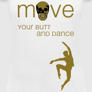 move your butt and dance (jazz) T-Shirts - Frauen T-Shirt mit V-Ausschnitt