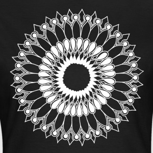 White Lace Sunflower Mandala - Women's T-Shirt