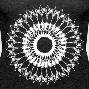White Lace Sunflower Mandala - Women's Premium Tank Top