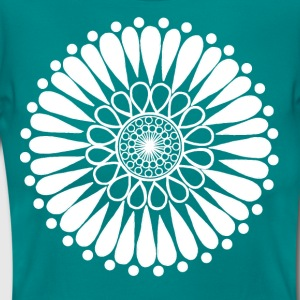 White Sunflower Mandala - Women's T-Shirt