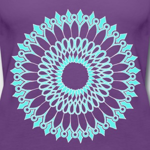 Ice Sunflower Mandala - Women's Premium Tank Top