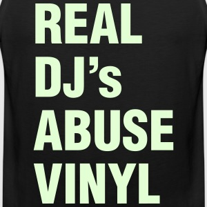 REAL DJ's ABUSE VINYL Sports wear - Men's Premium Tank Top