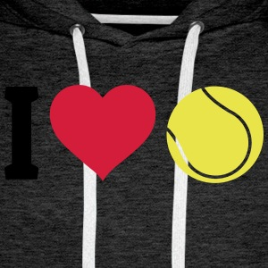 I love tennis Hoodies & Sweatshirts - Men's Premium Hoodie