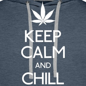 keep calm and smoke  Hoodies & Sweatshirts - Men's Premium Hoodie