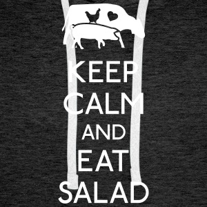 Keep Calm eat salad Hoodies & Sweatshirts - Men's Premium Hoodie