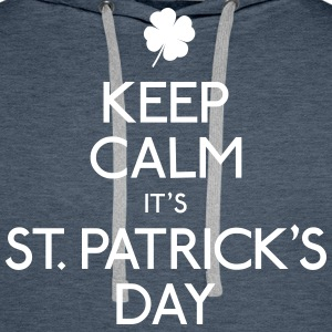 keep calm st. patricks day holde ro st. patricks dag Gensere - Premium hettegenser for menn