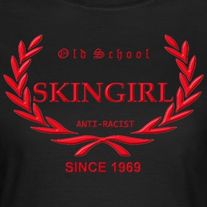 Old School Skingirl Anti-Racist 1969 (roter Druck) - Frauen T-Shirt