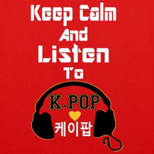 ♥♫Keep Calm&Listen to KPop Chic Tote Bag♪♥ - EarthPositive Tote Bag