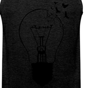 Outlaw, breaking out of the old light bulb Sports wear - Men's Premium Tank Top