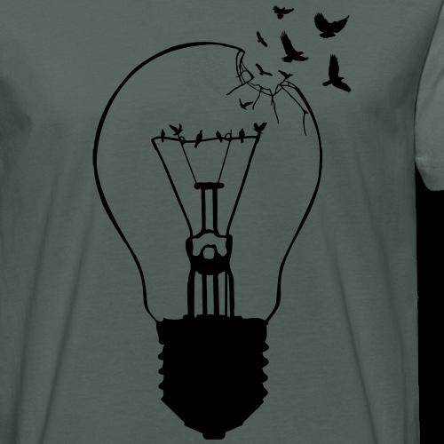 Glühbirne Artwork Vogelfrei