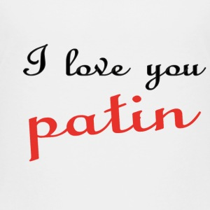 I love you patin Shirts - Teenager Premium T-shirt
