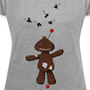 Voodoo doll T-Shirts - Women's T-shirt with rolled up sleeves