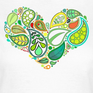 Green Leaf Heart Mandala - Women's T-Shirt