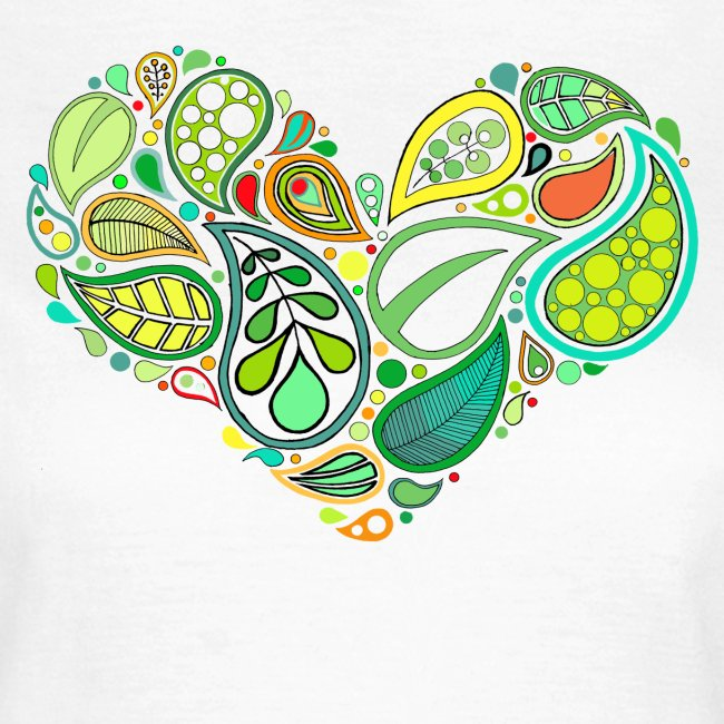 Green Leaf Heart Mandala