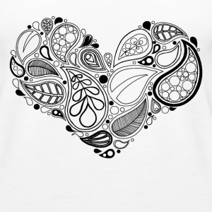 Leaf Heart Mandala - Women's Premium Tank Top