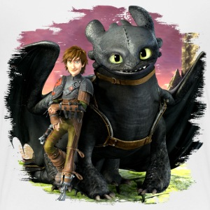 Dreamworks Dragons 'Hiccup and Toothless cool' - Teenage Premium T-Shirt