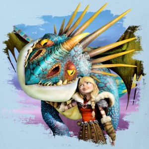Dreamworks Dragons 'Astrid and Stormfly in love' - Kids' Organic T-shirt