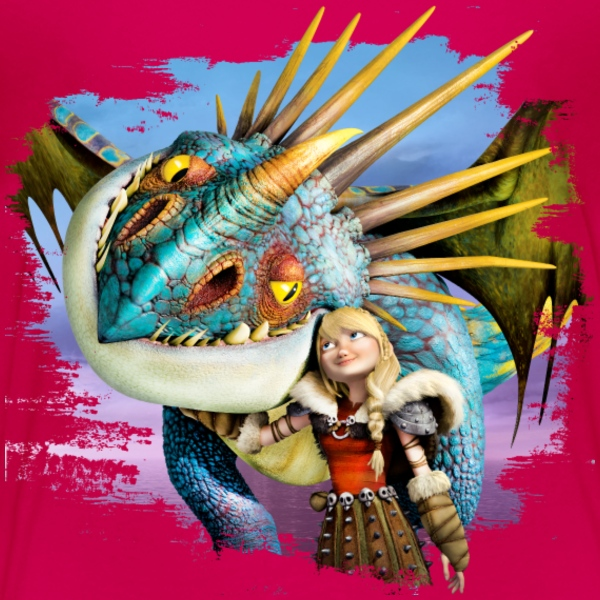 Dreamworks Dragons 'Astrid and Stormfly in love' - Kids' Premium T-Shirt