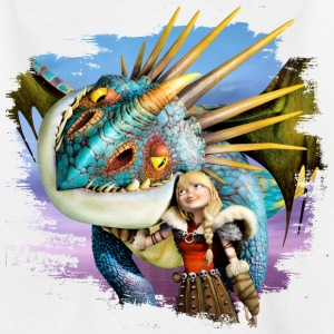 Dreamworks Dragons 'Astrid schmust mit Sturmpfeil' - Teenager T-Shirt