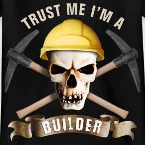 builder_pick_skull_b T-Shirts - Kinder T-Shirt