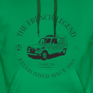 RENAULT 4L FRENCH CAR Sweat-shirts - Sweat-shirt à capuche Premium pour hommes